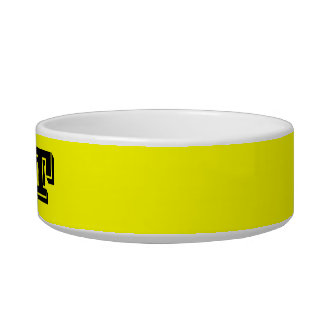 Cat Bowl by Janz Small Yellow