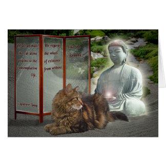 Cat-Buddha nature Greeting Card