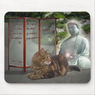 Cat-Buddha nature Mouse Pads