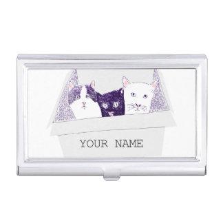 CAT BUSINESS CARD HOLDER