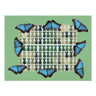 Cat Butterfly Kitten Pattern Office Peace Destiny