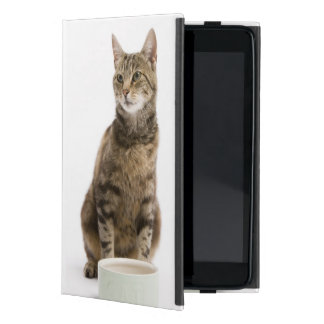 Cat by bowl case for iPad mini