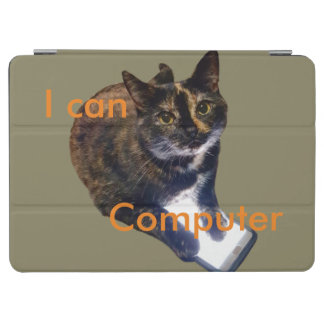 Cat Can Computer iPad Pro Cover