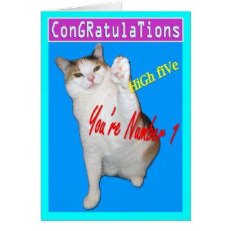 Cat Cards,Congratulations Card