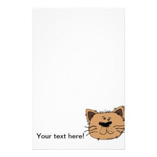 Cat cartoon stationery