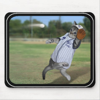 Cat Catcher in the Outfield! Mouse Pad
