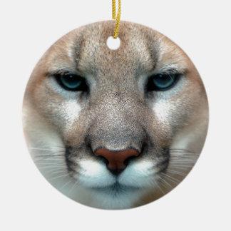 Cat Cats wild stripe print diy Anniversaries Round Ceramic Decoration