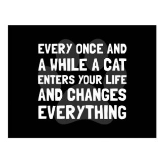 Cat Changes Everything Postcard
