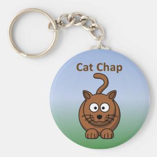 Cat Chap Basic Round Button Key Ring