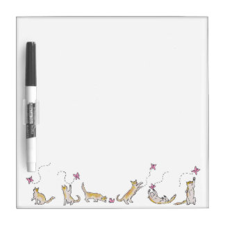 Cat Chasing a Butterfly dry erase board