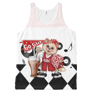 CAT CHEERLEADER AllOver Printed Unisex Tank