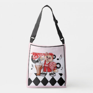 CAT CHEERLEADER CUTE All-Over-Print Cross Body M Crossbody Bag