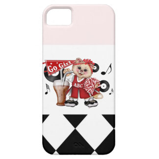 CAT CHEERLEADER CUTE Barely There Phone Case