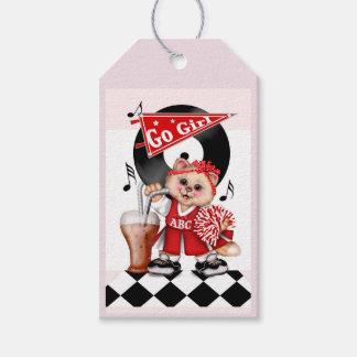 CAT CHEERLEADER CUTE CARTOON Gift Tag