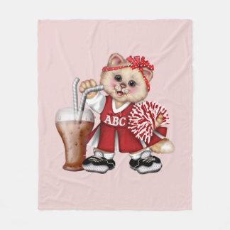 CAT CHEERLEADER CUTE Fleece Blanket, MEDIUM