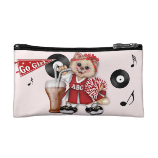 CAT CHEERLEADER CUTE Small Cosmetic Bag 2