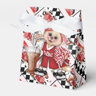 CAT CHEERLEADER CUTE Tent & Ribbon Favor Box