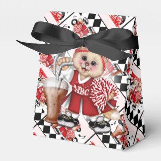 CAT CHEERLEADER CUTE Tent & Ribbon Favor Box 2