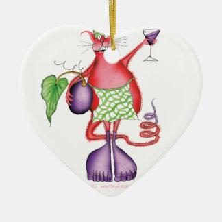 cat chef1, tony fernandes ceramic heart decoration