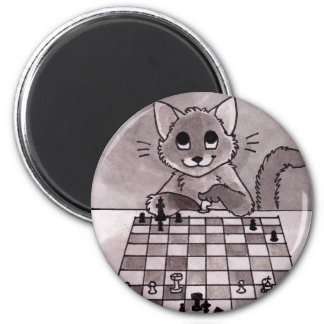 Cat Chess Magnet