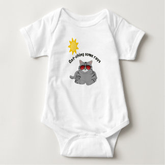 Cat-ching some rays cat baby one piece baby bodysuit