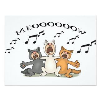 Cat Choir 11 Cm X 14 Cm Invitation Card