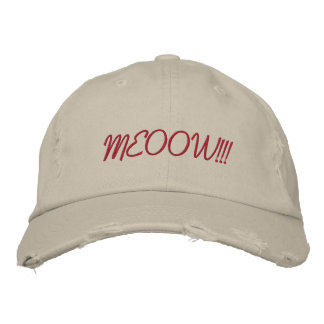 Cat Choir Embroidered Hats