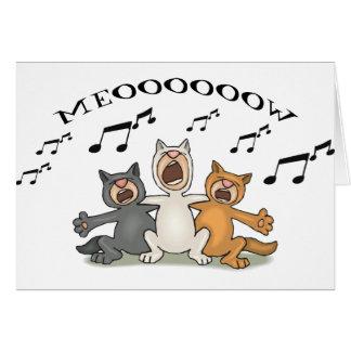 Cat Choir Greeting Card