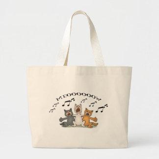 Cat Choir Large Tote Bag