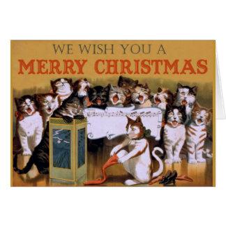 Cat Christmas Choir Greeting Card