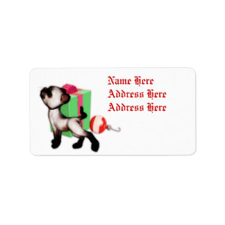 Cat Christmas gift address labels