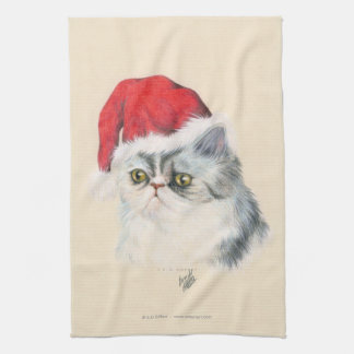 Cat Christmas Hand Towels