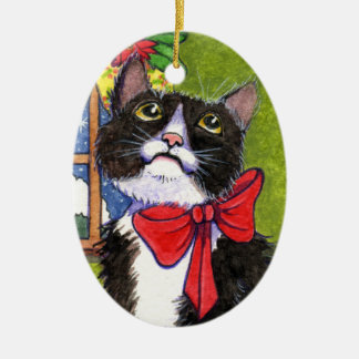 Cat Christmas Ornament by Ann Holiday