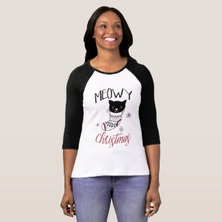 Cat Christmas Shirt Meowy Christmas Kitty Stocking
