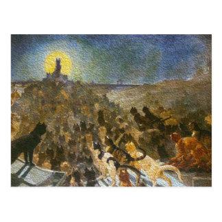 Cat City Postcard Théophile Steinlen Vintage Art