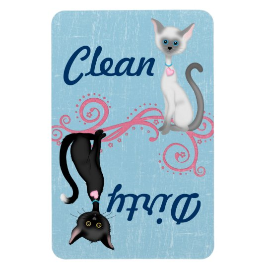 Cat Clean Dirty Dishwasher Magnet