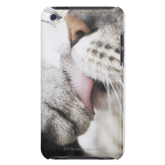 Cat cleaning paw barely there iPod covers