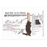 Cat Cliimbs Tree to See Miss Kitty Postcard