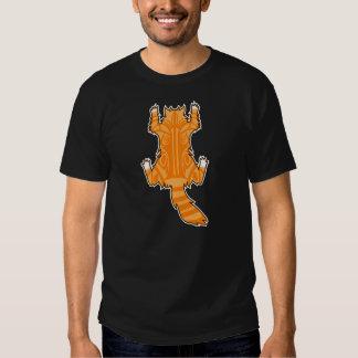Cat Cling To A Shirt(Long Hair 1_Classic Tabby) Tee Shirts