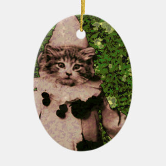 Cat clown christmas ornament