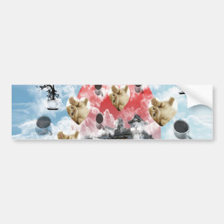 Cat coffee Imabari compilation 4 Bumper Stickers