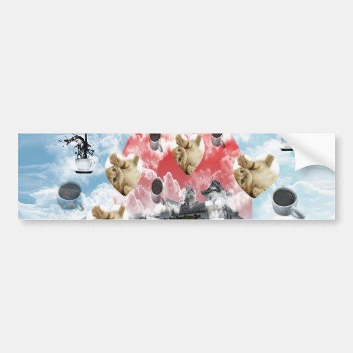 Cat coffee Imabari compilation 6 Bumper Sticker