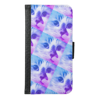 Cat Collage Samsung Galaxy S6 Wallet Case