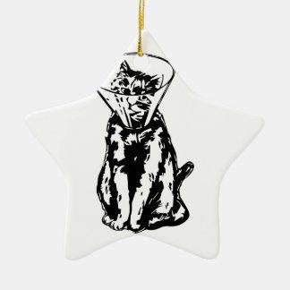 Cat Cone Ceramic Star Decoration
