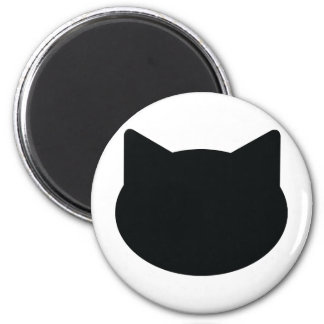 cat contour icon 6 cm round magnet