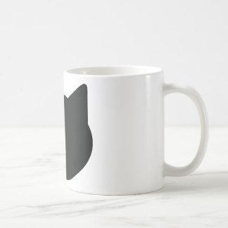 cat contour icon basic white mug