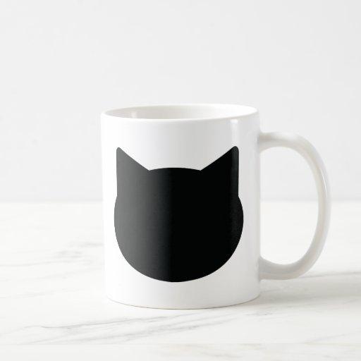 cat contour icon mugs