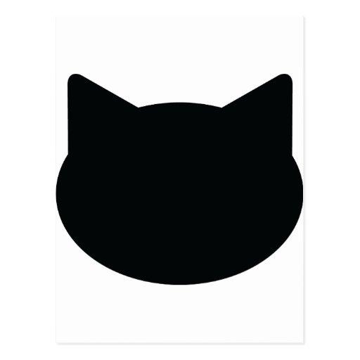 cat contour icon post cards