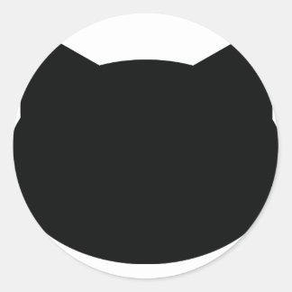 cat contour icon round sticker