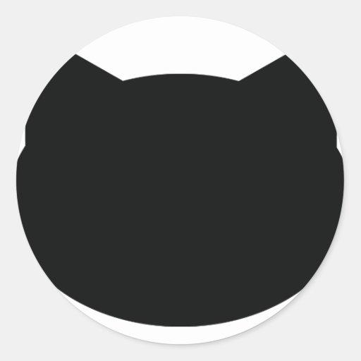 cat contour icon sticker